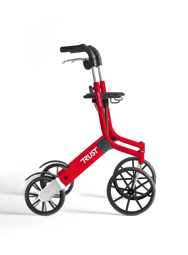 Rollator let's go out rouge