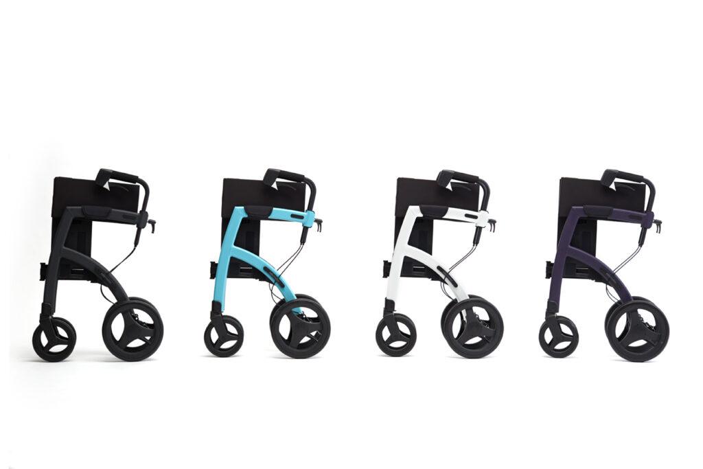 Alle kleuren uitvoeringen van de Rollz Motion rollator