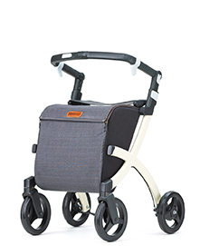 Rollz Flex rollator forward denim grey