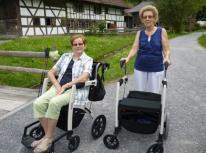 Rollz Motion rollator en rolstoel met gebruikers