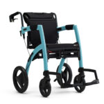 Blauwe Rollz Motion rollator rolstoel