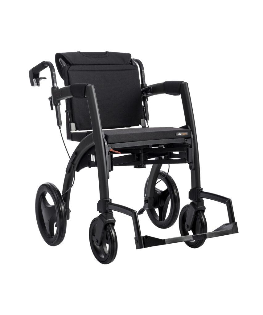 Zwarte Rollz Motion rollator rolstoel