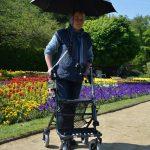 Paraplu voor rollator