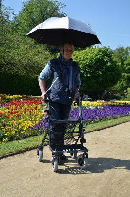 Paraplu parasol voor rollator