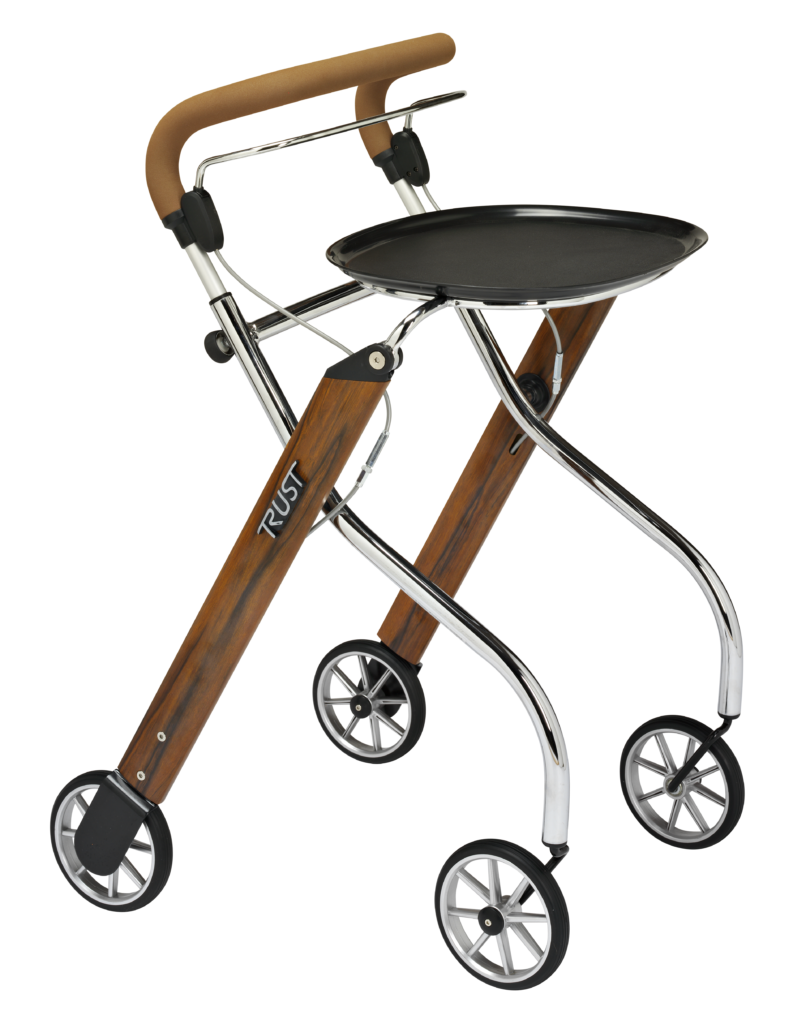 déambulateur intérieur Let's Go Indoor Wood Chrome binnenrollator