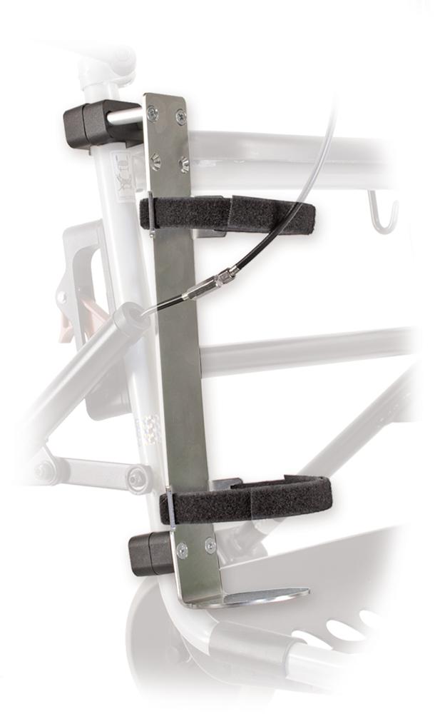 Zuurstoffleshouder voor rollator