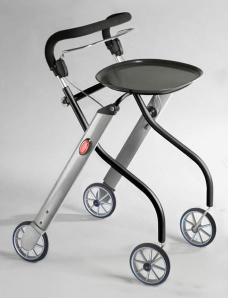 Let's Go Indoor rollator zwart