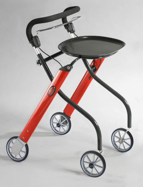 Let's Go Indoor rollator rood