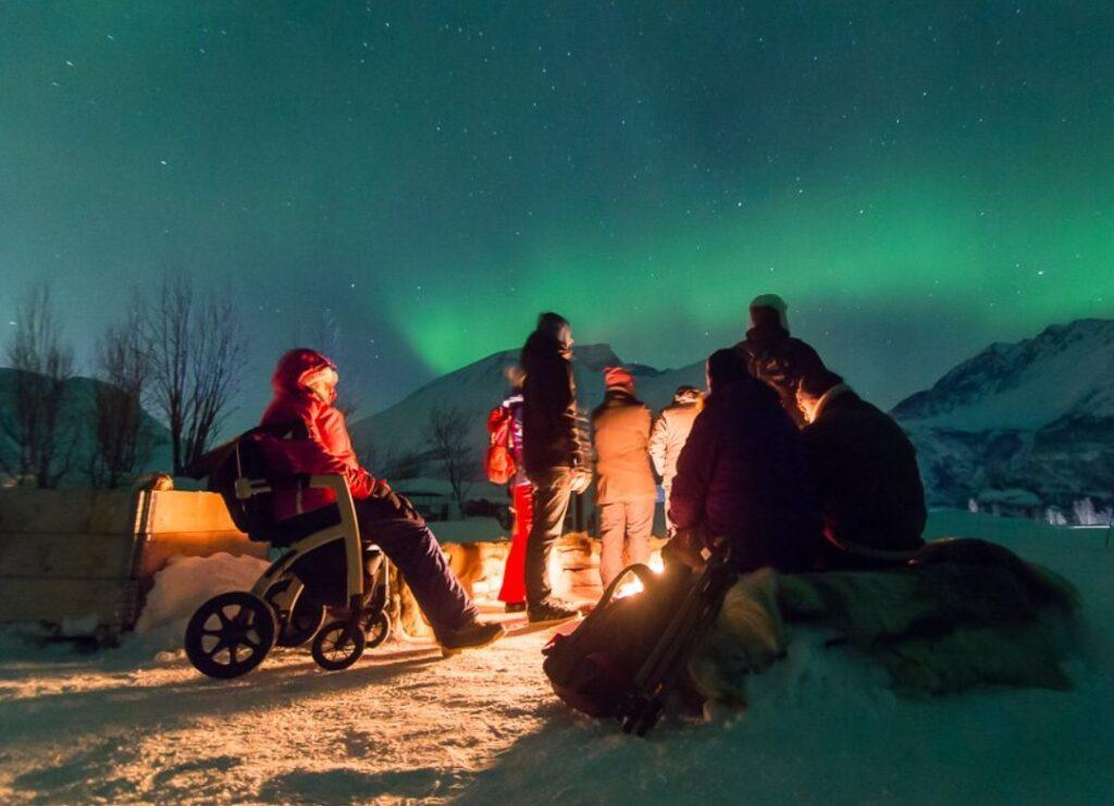 La nuit polaire en Laponie, vu de son Rollz Motion