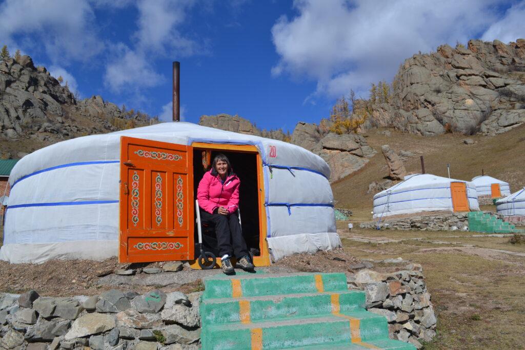 Rollz Motion verre reizen overnachten in Mongoolse Yurt