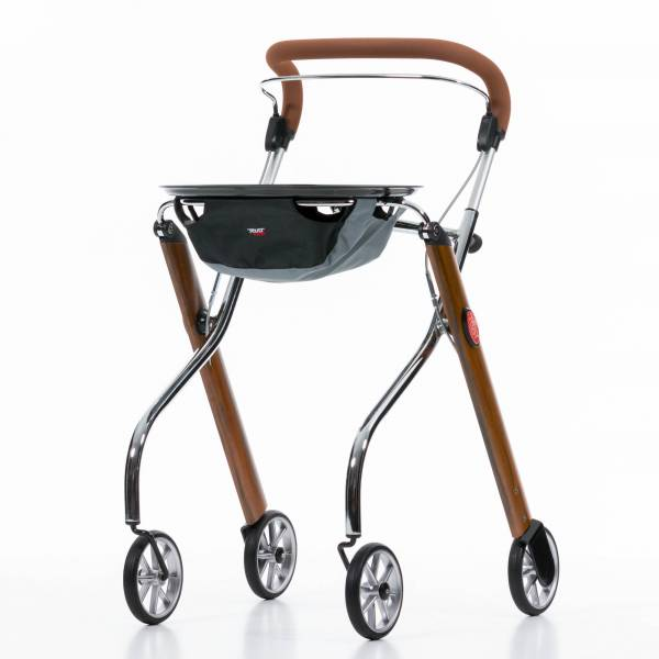 Let's Go Indoor rollator in Teak