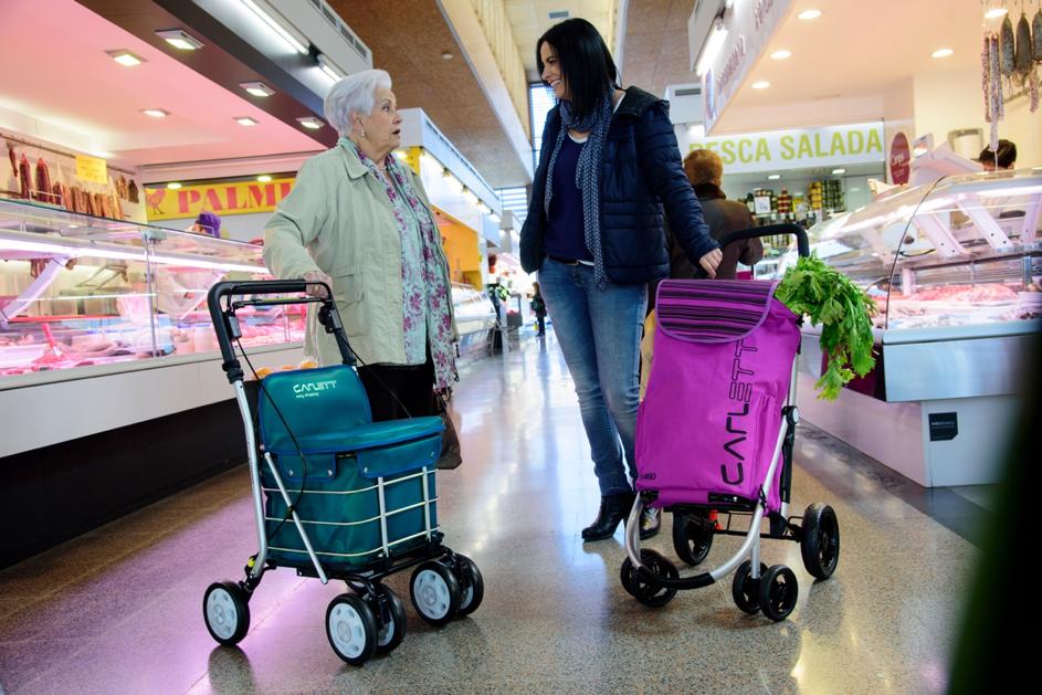 lett800 turquoise est très practique dans le supermarché