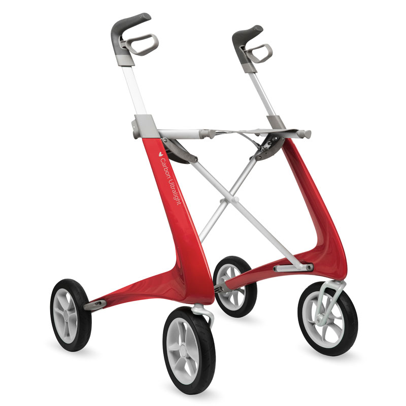 Déambulateur Carbon Ultralight Rood rouge rollator