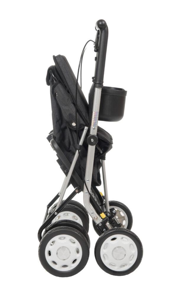 Lett 900 - chariot de course - boodschappenrollator - carlett - noir - plooibaar - pliable