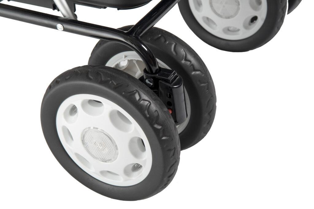 Lett 900 - chariot de course - boodschappenrollator - carlett - noir - wielen - roues - remmen - freins