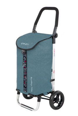 Lett205 Turquoise shopping trolley