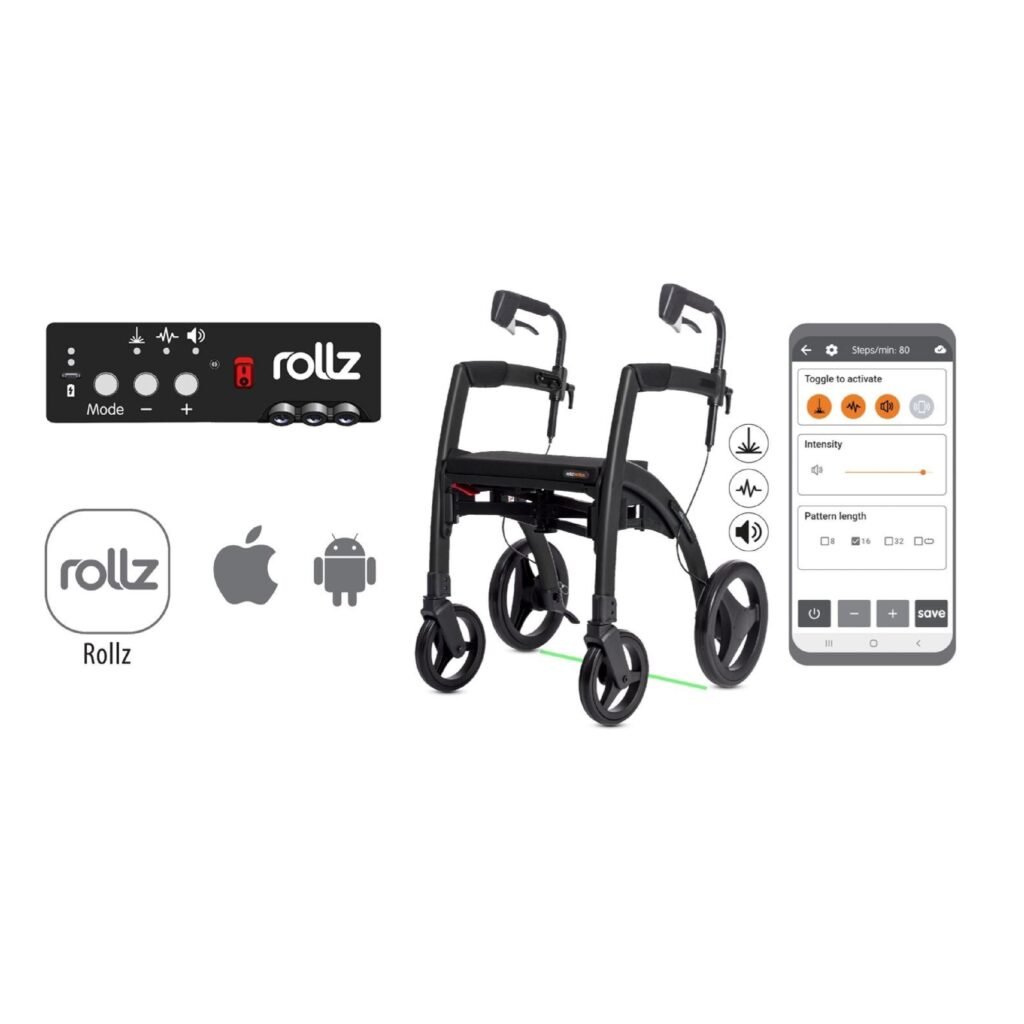 Rollz Rhythm three cues, Rollz app for iOs and Android, Rollz Rhythm - square
