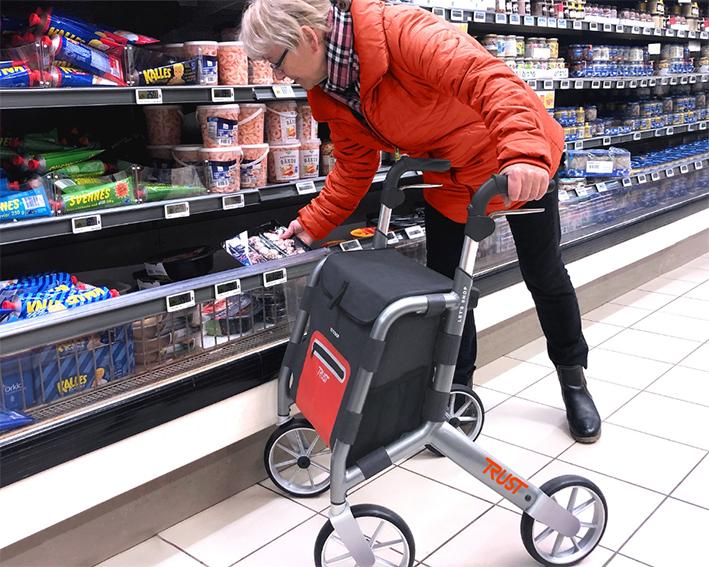 Boodschappenrollators shoppen